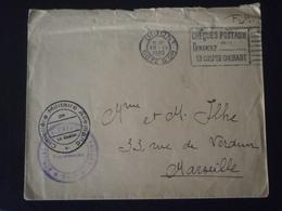 FRANCE FM FRANCHISE ENVELOPPE LETTRE COURRIER PLI GUERRE CIMETIERE MILITAIRE ALLEMAND HOPITAL VAILLANT DIJON COTE OR - Marcophilie (Lettres)