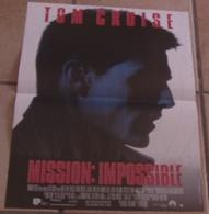 AFFICHE CINEMA ORIGINALE FILM MISSION IMPOSSIBLE Brian DE PALMA Tom CRUISE RENO BEART VOIGHT 1996 TBE - Affiches & Posters