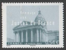 France Neuf Sans Charnière 2007 Seconde Guerre Mondiale Hommage Aux Justes De France  YT 4000 - Francia