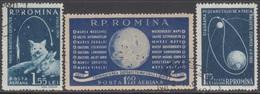 ROUMANIE 1959 3 PA Fusées Cosmiques N° 104 à 106 Y&T Oblitéré - Luftpost