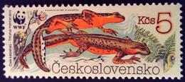 Tchécoslovaquie Czechoslovakia Ceskoslovensko 1989 Animal Grenouille Frog WWF Yvert 2811 ** MNH - Ungebraucht