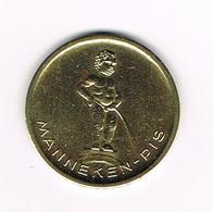 //  JETON  MANNEKE PIS EXPOSITION UNIVERSELLE  BRUXELLES  1958 - Pièces écrasées (Elongated Coins)