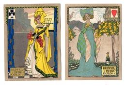 4 Rares Grandes Chromos Champagne Kupferberg Gold, Skat, Jeu De Cartes, Sig Niestle, Allemagne, Kunstdruckerei Karlsruhe - Trade Cards
