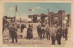 76 14 Le Bac HODE BERVILLE 1930 ? Gros Plan Animé L'embarquement Quai - Otros Municipios