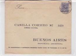 1927 URUGUAY COVER CIRCULEE TO BUENOS AIRES ARGENTINE- BLEUP - Uruguay