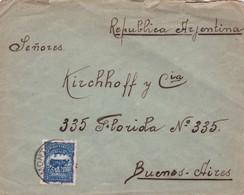 1920'S URUGUAY COMMERCIAL COVER-DE LA PRIMERA AVENIDA BAZAR. CIRCULEE TO BUENOS AIRES ARGENTINE- BLEUP - Uruguay