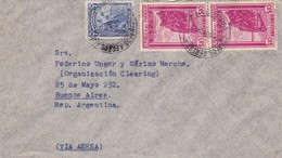 1947 PARAGUAY AIRMAIL COVER CIRCULEE TO ARGENTINE, STAMP A PAIR, OTHERS MARKS- BLEUP - Paraguay