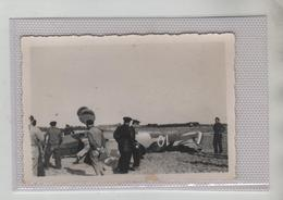 Photo Originale Avion Abattu Sfax 10 Janvier 1942 à Identifier - Aviation