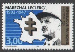 France Neuf Sans Charnière 1997 Seconde Guerre Mondiale Célébrité  Maréchal Leclerc YT 3126 - Francia
