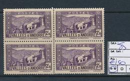 ANDORRE YVERT 83 X4 MNH - Andorre Français