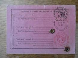 PERMIS DE CONDUIRE LES AUTOMOBILES DU 4 SEPT 1938 3 CACHETS PRIX PORTE DE 54F A 64F LOI DU 31 DECEMBRE 1935 PLEIN TARIF - Steuermarken