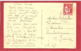 Y&T N°283 III PONDY   Vers  SAINTES  1933 2 SCANS - Lettres & Documents