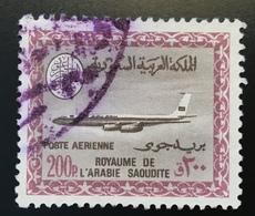 Saudi Arabia Air Post 1966-78 200 P RARITY Boeing 720B Airplane Used Mi 383 SG 744 Sc C87(Arabie Saoudite Airmail Avion - Saudi Arabia