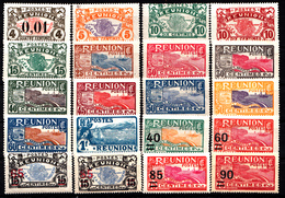 REUNION - N°  83/102* - SERIE COMPLETE DE 20 VALEURS - 1917... - Neufs