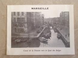 Marseille Canal De La Douane Vers Le Quai Des Belges Format 16x12 - Marsiglia
