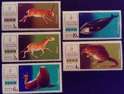 Russie Russia URSS USSR 1974 Animal Antilope Ane Rat Otarie Baleine Yvert 4038-4042 ** MNH - 1923-1991 URSS