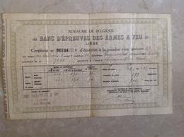 Liège Banc D'épreuve Des Armes à Feu - Vecchi Documenti