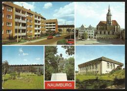 Postcard AK Germany Architecture Naumburg Residential Area Wilhelm-Pieck-Platz Wenzelskirche Youth Tourist Hotel Posted - Naumburg (Saale)