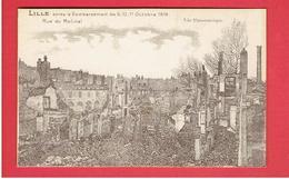 LILLE RUINES DE LA GUERRE 1914 1918 WWI RUE DU MOLINEL CARTE EN TRES BON ETAT - Lille