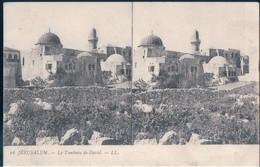 POSTAL STEREOSCOPICA JERUSALEM - LE TOMBEAU DE DAVID - LL 16 - LA TUMBA DE DAVID - Israel