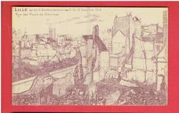 LILLE RUINES DE LA GUERRE 1914 1918 WWI RUE DES PONTS DE COMINES CARTE EN TRES BON ETAT - Lille