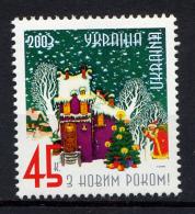 UKRAINE UKRAINA 2003, Nouvel An, Père Gel, 1 Valeur, Neuf / Mint. R1363ind - Ukraine