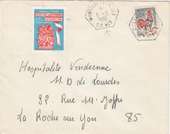 VENDEE ENV 1966 MONTAIGU (VENDEE) C.P.  N° 3 VIGNETTE FESTIVAL 1966 CASTRES A LA GLOIRE DE L ARMEE - Marcophilie (Lettres)