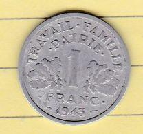 """Monnaies & Billets > Monnaies > France > """"état Français"""" 1943 Coin Bouché Sur Signature (9) - France"""