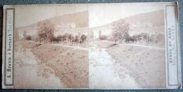 Photo Stéréo 1858 - Adolphe BRAUN à DORNACH - Bords Du Rhin - 900 Vue De Baden Baden - Photos Stéréoscopiques