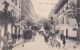 Corte Le Cours Paoli La Voiture A Cheval Du Grand Hotel Paoli Tenu Par Lasserre éditeur Emile Breteau Artiste Peintre - Corte