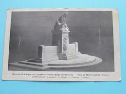 Monument à ériger Au Cimétière Franco-Belge De Boninne - Fort De MARCHOVELETTE (?) Anno 19?? ( Zie/voir Photo ) ! - Fernelmont
