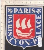 PO8192D# ETICHETTA - ADESIVI ALBERGHI - PARIS LYON PALACE - Adesivi Di Alberghi