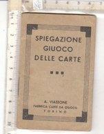 PO8175D# LIBRETTO SPIEGAZIONE GIUOCO DELLE CARTE A.Viassone Torino - Carte Da Gioco