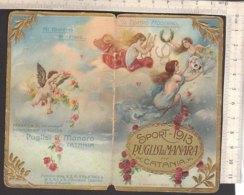 PO8215D# CALENDARIETTO CROMO SPORT 1913 PUGLISI & MANARA CATANIA - PROFUMI Solo Copertina - Formato Piccolo : 1901-20