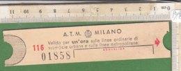 PO8245D# BIGLIETTO A.T.M. TRAMWAY MILANO - Tram