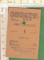 PO8247D# BIGLIETTO ABBONAMENTO FUNIVIE VAL VENY COURMAYEUR 1979 - Week-en Maandabonnementen