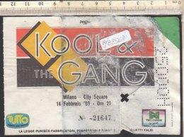 PO8256D# BIGLIETTO CONCERTO KOOL & THE GANG - MILANO CITY SQUARE 1989 - Biglietti Per Concerti