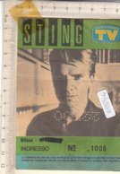 PO8261D# BIGLIETTO CONCERTO STING -  MILANO 1986 - Biglietti Per Concerti