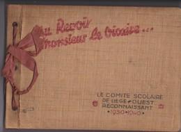 LIEGE-TROUVAILLE-ALBUM DE PHOTOS-COMITE SCOLAIRE LIEGE-OUEST RECONNAISSANT-AU REVOIR MR. LE VICAIRE-VOYEZ TOUT LES SCANS - Liege