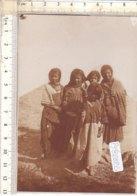 PO8282D# FOTOGRAFICA LIBIA - BAMBINI - PICCOLE ARABE DI DERNA RICORDO 1911  No VG - Libia