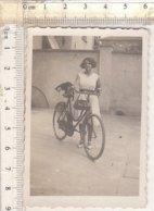 PO8298D# FOTOGRAFIA CICLISMO - BICICLETTE DONNA Anni '30 - Ciclismo