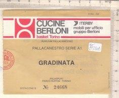 PO8340D# BIGLIETTO PARTITA BASKET SERIE A1 - AUXILIUM PALLACANESTRO - PALASPORT PARCO RUFFINI TORINO - Sport