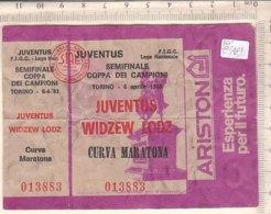 PO8342D# BIGLIETTO PARTITA CALCIO FOOTBALL - SEMIFINALE COPPA DEI CAMPIONI 1983 - JUVENTUS - WIDZEW LODZ - Calcio