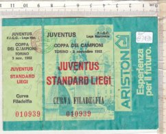PO8343D# BIGLIETTO PARTITA CALCIO FOOTBALL - COPPA DEI CAMPIONI 1982 - JUVENTUS - STANDARD LIEGI - Calcio