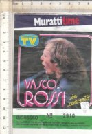 PO8349D# BIGLIETTO VASCO ROSSI IN CONCERTO 1984 MURATTITIME - Concerttickets