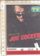 PO8352D# BIGLIETTO CONCERTO JOE COCKER TOUR '88 - Biglietti Per Concerti