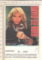 PO8354D# BIGLIETTO CONCERTO DAVID LEE ROTH VAN HALEN - PALATRUSSARDI MILANO 1988 - Biglietti Per Concerti