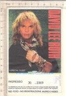 PO8354D# BIGLIETTO CONCERTO DAVID LEE ROTH VAN HALEN - PALATRUSSARDI MILANO 1988 - Concerttickets