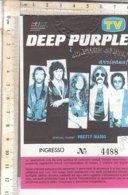 PO8355D# BIGLIETTO CONCERTO DEEP PURPLE - IPPODROMO MERANO 1988 - Biglietti Per Concerti