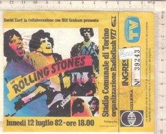 PO8356D# BIGLIETTO CONCERTO ROLLING STONES - TORINO STADIO COMUNALE 1982 - Concerttickets